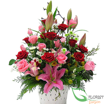 Send love flowers to Tanbinh District Saigon