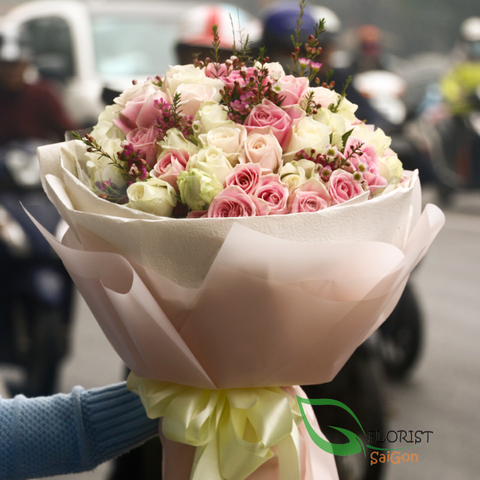 Saigon beauty roses bouquet free delivery