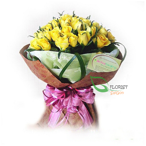 Yellow roses delivery