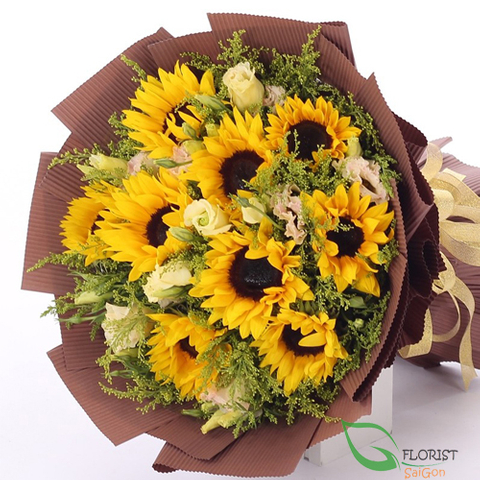 Sunflower bouquet delivery in Saigon