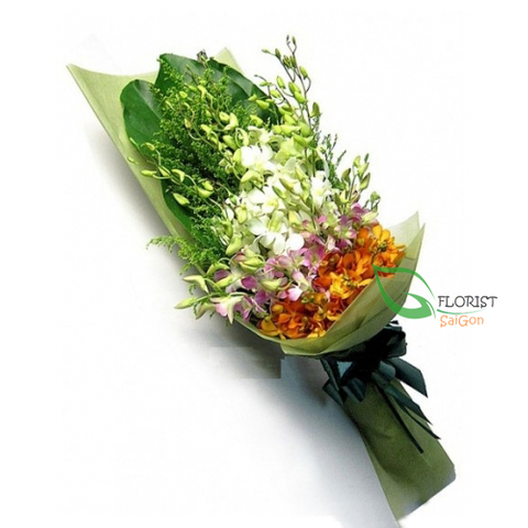 Small flower bouquet free delivery in Saigon