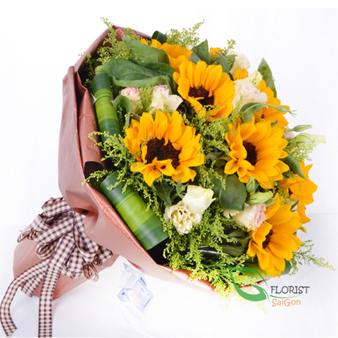 Sunflower bouquet for mother's day