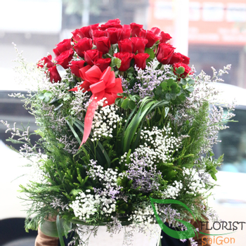 Saigon basket flowers delivered free ship