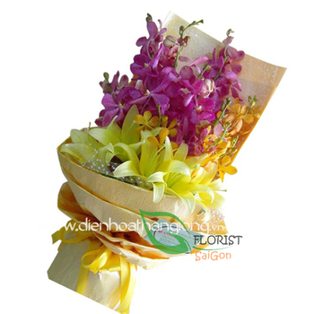Bouquet for birthday of boss