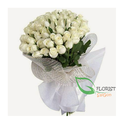 Saigon birthday flowers with white roses