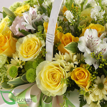 Yellow rose birthday arrangement delivery Saigon
