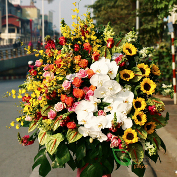 Grand opening flowers stand free shipping in saigon