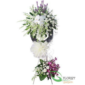 Send sympathy flower arrangement to Saigon