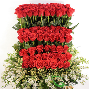 Roses basket for sending to Saigon free shipping