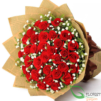 Love flowers for sending to Hochiminh Vietnam