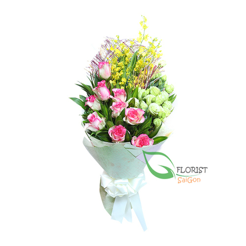 Saigon love flowers bouquet for wife