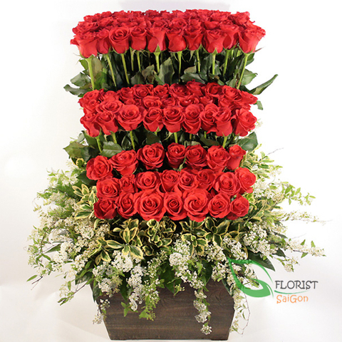 Send love flowers to Saigon sameday delivery
