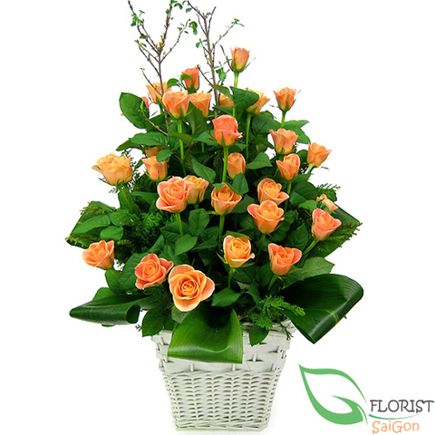 Orange rose arrangement