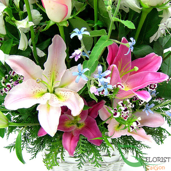 image beautiful pink flower arrangement