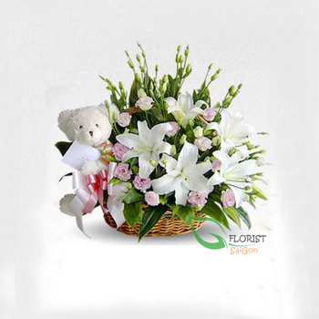 Flowers for new baby