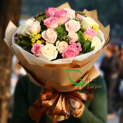Bouquet flowers for my love in Saigon
