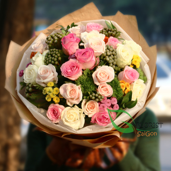 Bouquet flowers for my love in Saigon - HCM city