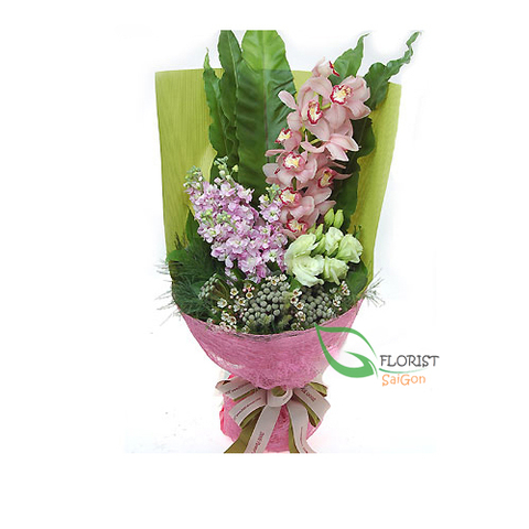 Cymbidium orchids bouquet