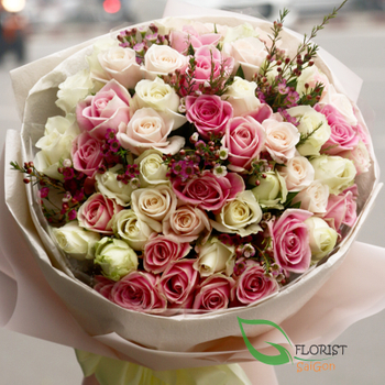 Saigon beautiful roses bouquet free delivery