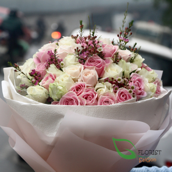 buying Saigon beauty roses bouquet free delivery
