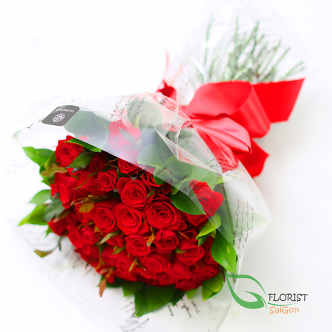 Red rose bouquet for Valentine's day