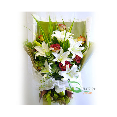Flower bouquet for birthday