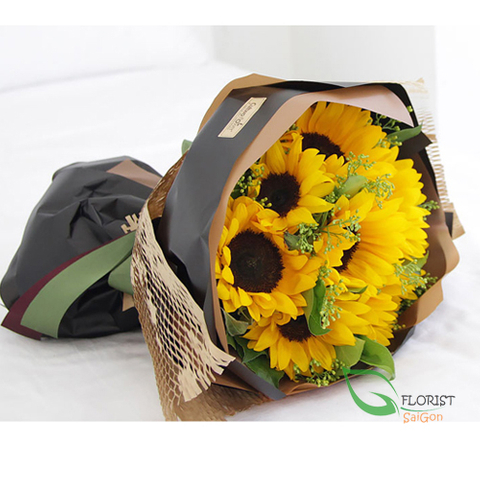 Sunflowers bouquet for her