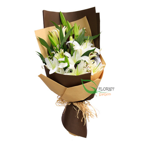 Bouquet of lily arrangements