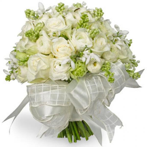 WEDDING BOUQUETS WHITE ROSE