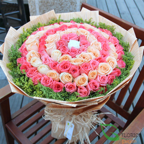 Exquisite 99 roses bouquet