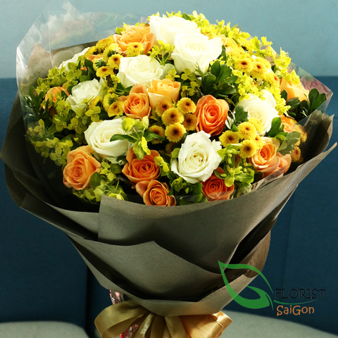 Roses bouquet free delivery in Saigon