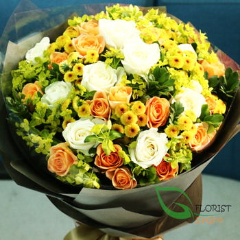 Roses bouquet free shipping in Saigon