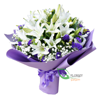 Beautiful lily bouquet for wife