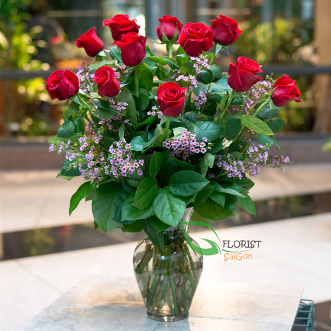 Flowers in vase arrangements