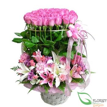 Pink flower arrangement mightylinksfo