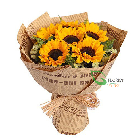 Sunflower bouquet congratulation graduation