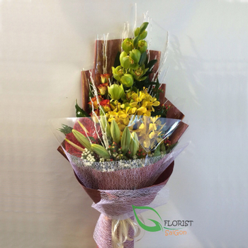 Orchid bouquet arrangement for delivery