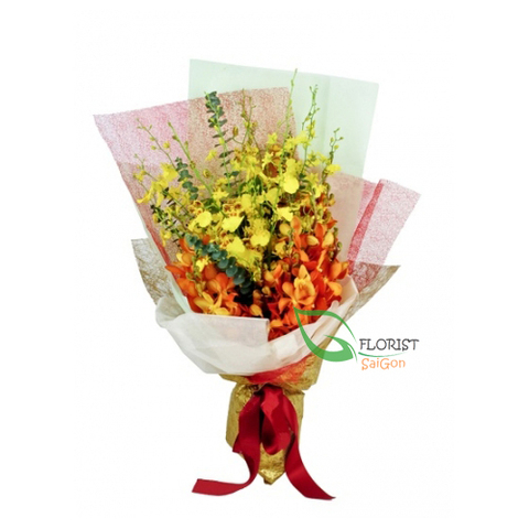 Beautiful orchid bouquet free shipping in Saigon