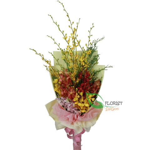 Saigon orchid flower bouquet online delivery