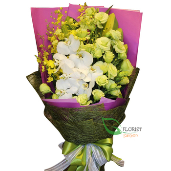 Send love to Saigon with orchid bouquet