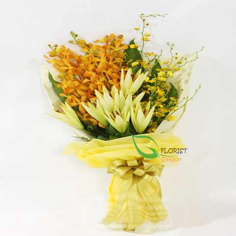 Orchid flower bouquets for congratulations