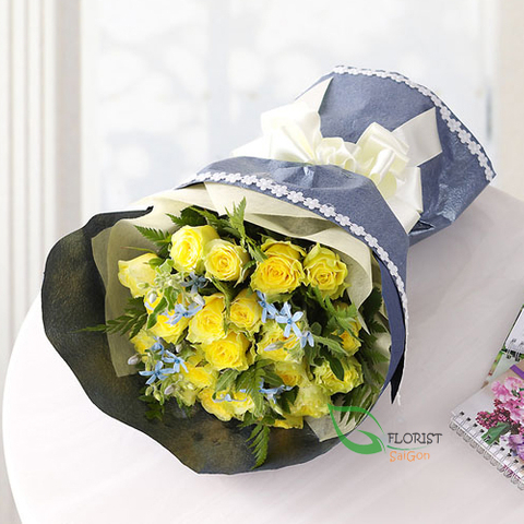 Yellow roses for birthday