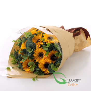 Sunflowers bouquet for birthday in Saigon