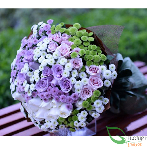 Romantic purple flowers