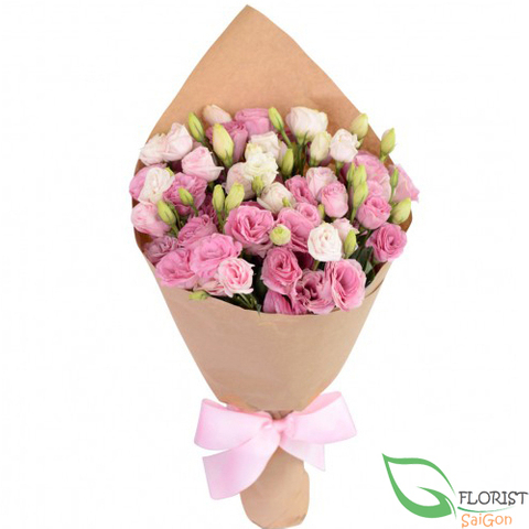 Pink lisianthus flowers