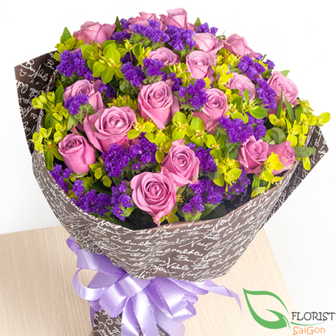 Romantic love flowers