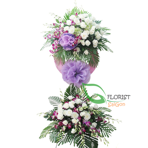 Sympathy flowers free delivery in Hochiminh city