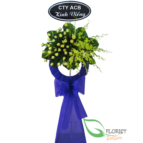Funeral flower arrangement Hochiminh city