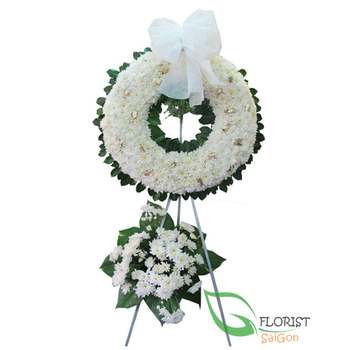 White funeral flowers Saigon