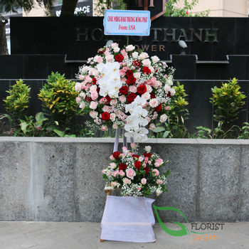 Flowers for opening ceremony in Hochiminh city